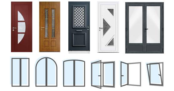 Modèles Portes et Fenêtres PVC