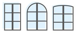 Double vitrage fenêtres petits bois et croisillons